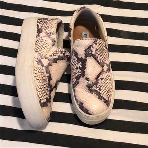 Steve Madden Snake Skin Platform Sneakers